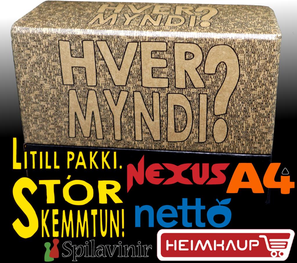 Hver myndi fæst í Nexus, A4, Spilavinum, Nettó og Heimkaup.